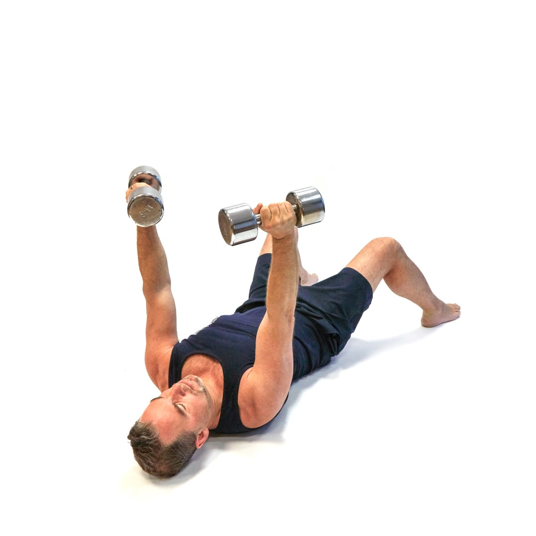 Exercise Of The Week Dumbbell Floor Press: Dumbbell Floor Press For Chest